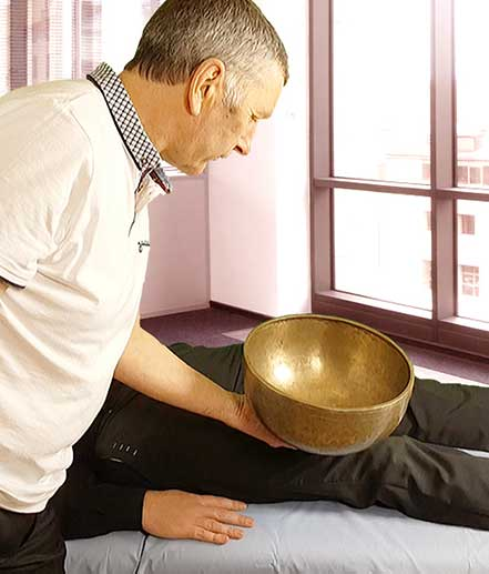 How our body can interact with Tibetan Singing Bowl Sounds